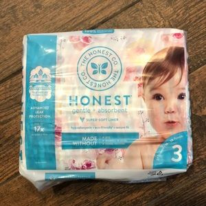 Honest Rose Print Diapers Size 3